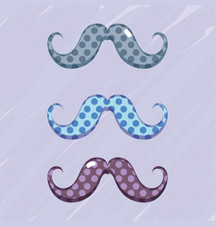 set diferent mustache decoration design vector image