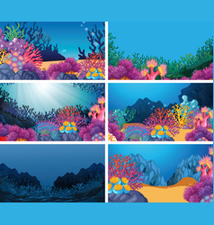Set scenes in nature setting vector
