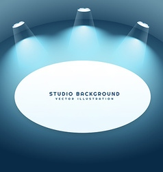 Studio background with frame vector