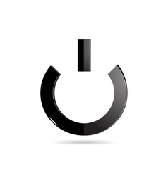 The Power Button on an White Background vector image