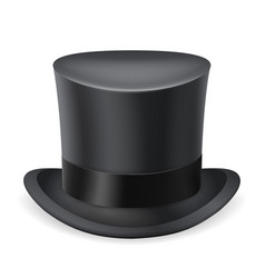 top hat gentleman victorian english black 3d vector image