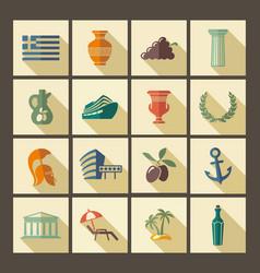 Traditional symbols greece vector