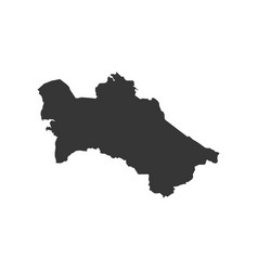Turkmenistan map silhouette vector