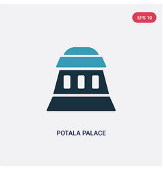 two color potala palace icon from monuments vector image