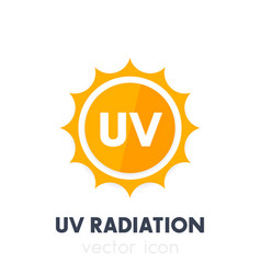 Uv radiation ultraviolet icon vector