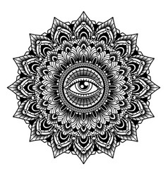 Vintage mandala tattoo vector