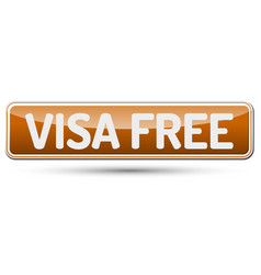Visa free - abstract beautiful button with text vector