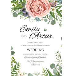 Wedding invitation invite save date floral vector