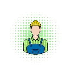 Worker comics icon vector image