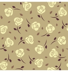 Yellow roses seamless pattern vector