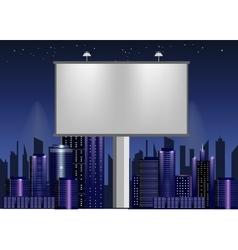 big billboard advertisement commercial blank vector image