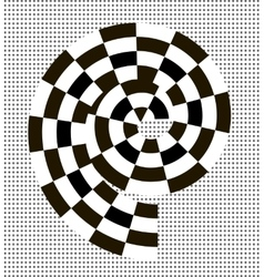 Black and white abstract spiral vector image