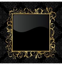 floral gold frame vector image vector image