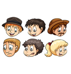 People with different emotions vector image vector image