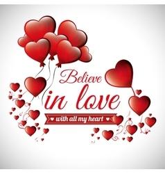 postcard romantic valentines day believe in love vector image