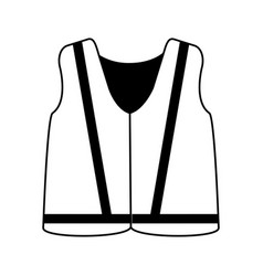 reflective vest industrial safety icon image vector image vector image