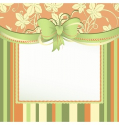 tag with bow vector image vector image