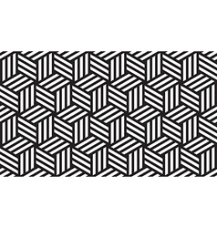 Black and White Geometric Pattern vector image vector image