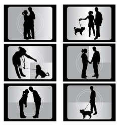 couple with film vector image vector image