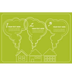 green village and clean enviroment infographics vector image