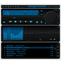 multimedia player interface vector image vector image