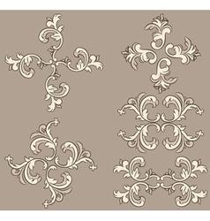 Ornate design elements vector image vector image