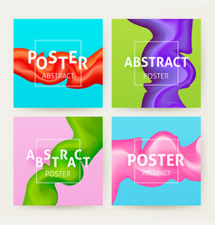 colorful abstract poster set vector image