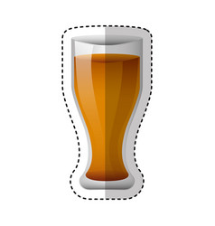 glass drink isolated icon vector image