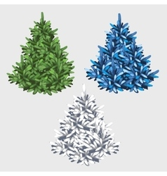 Green white and blue tree without toys vector image vector image