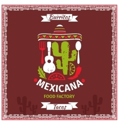 Mexican food poster template design vector image vector image