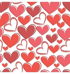 Seamless pattern with hearts on a white background vector image vector image