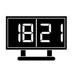 Silhouette board score american football icon vector