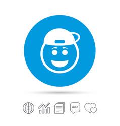 Smile rapper face icon smiley symbol vector