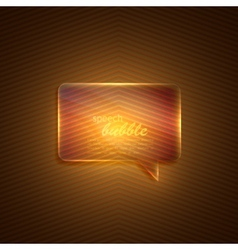 abstract background with glass transparent speech vector image vector image