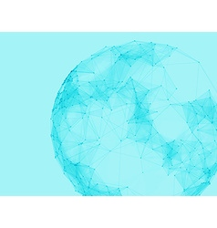 Abstract polygonal spheres Futuristic technology vector image