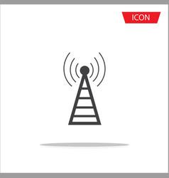 Antenna icon symbols on white background vector
