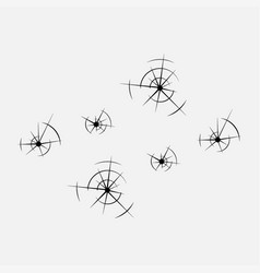 Icon bullet holes in the glass shot vector