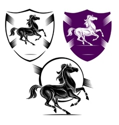 The symbol of the horse vector image