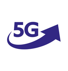 5g internet network logo isolated icon vector image