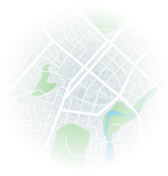 Abstract city map with blurred edge city vector