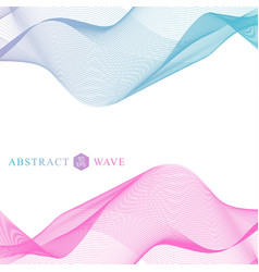 abstract colorfull wave element for design big vector image