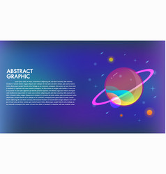 abstract technology mars planet design background vector image
