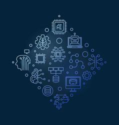 ai artificial intelligence creative line vector image