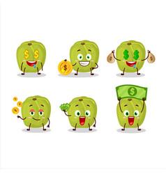 Amla character with cute emoticon bring money vector