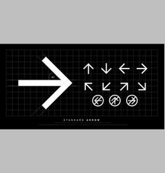 arrow icon modern standard sign arrows design vector image