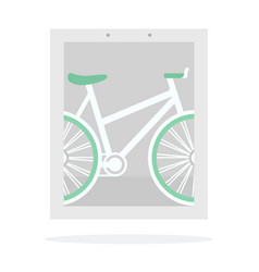 bike banner flat isolated vector image