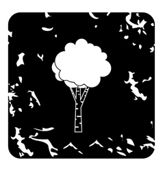 Birch icon grunge style vector image