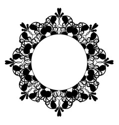 black vintage eight-pointed frame vector image