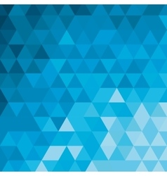 blue tone geometric pattern icon vector image