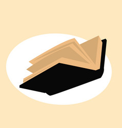book is opened stylized drawing a vector image